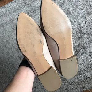Banana Republic Shoes - Cream Pointed Toe Flats